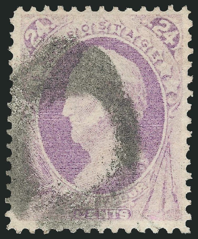 Price of US Stamp Scott Cat. #142: 1870 24c Winfield Scott Grill