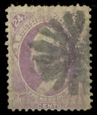 Value of US Stamp Scott Cat. #142 - 24c 1870 Winfield Scott Grill. Daniel Kelleher Auctions, May 2015, Sale 669, Lot 2623
