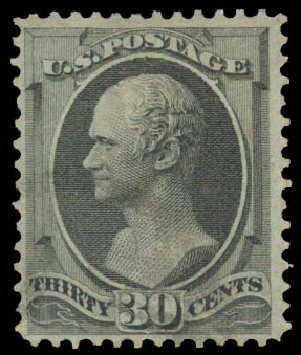 Values of US Stamps Scott Cat. 143 - 30c 1870 Hamilton Grill. Daniel Kelleher Auctions, Aug 2015, Sale 672, Lot 2408