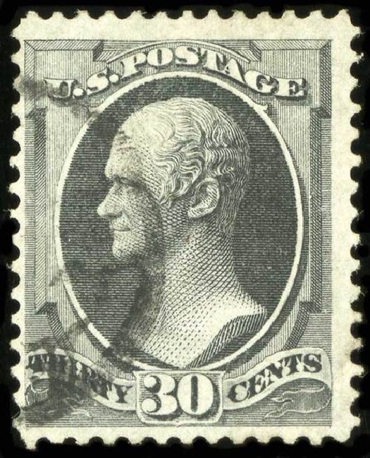 US Stamps Values Scott #143: 30c 1870 Hamilton Grill. Spink Shreves Galleries, Jul 2015, Sale 151, Lot 138