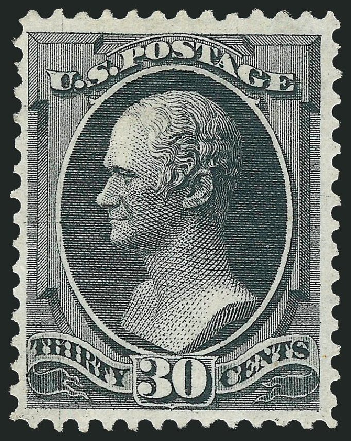 US Stamps Values Scott Catalog 143 - 1870 30c Hamilton Grill. Robert Siegel Auction Galleries, Dec 2014, Sale 1090, Lot 1304