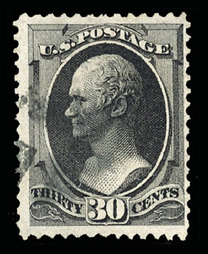 Cost of US Stamp Scott Cat. # 143: 30c 1870 Hamilton Grill. Cherrystone Auctions, Jul 2015, Sale 201507, Lot 55