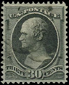 Prices of US Stamp Scott Cat. # 143 - 1870 30c Hamilton Grill. Regency-Superior, Nov 2014, Sale 108, Lot 325