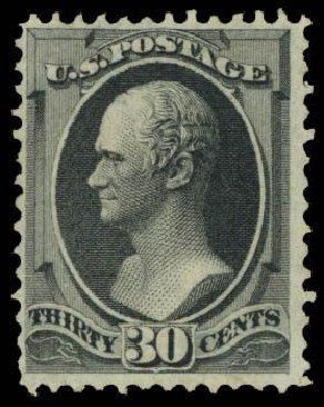 Prices of US Stamp Scott Cat. #143 - 1870 30c Hamilton Grill. Daniel Kelleher Auctions, Dec 2014, Sale 661, Lot 142
