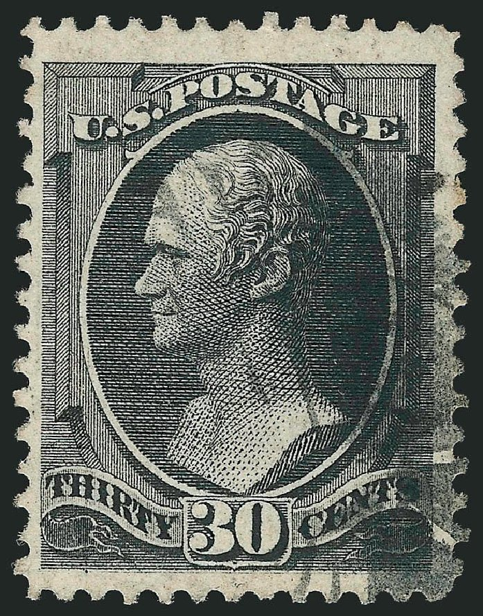 US Stamps Values Scott Cat. # 143 - 1870 30c Hamilton Grill. Robert Siegel Auction Galleries, Nov 2014, Sale 1084, Lot 3386