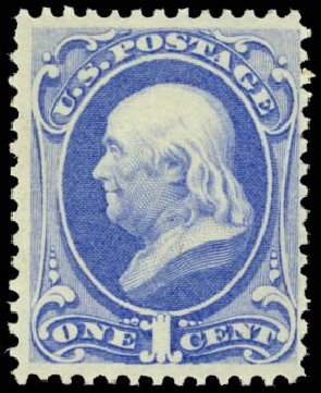 Prices of US Stamp Scott # 145 - 1c 1870 Franklin Without Grill. Daniel Kelleher Auctions, May 2014, Sale 652, Lot 277