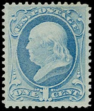 Cost of US Stamp Scott 145: 1c 1870 Franklin Without Grill. H.R. Harmer, Jun 2015, Sale 3007, Lot 3208