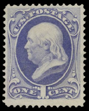 Prices of US Stamps Scott Cat. 145 - 1c 1870 Franklin Without Grill. Daniel Kelleher Auctions, May 2015, Sale 669, Lot 2628
