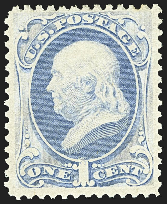 Prices of US Stamps Scott Cat. # 145: 1c 1870 Franklin Without Grill. Robert Siegel Auction Galleries, Jul 2015, Sale 1107, Lot 268