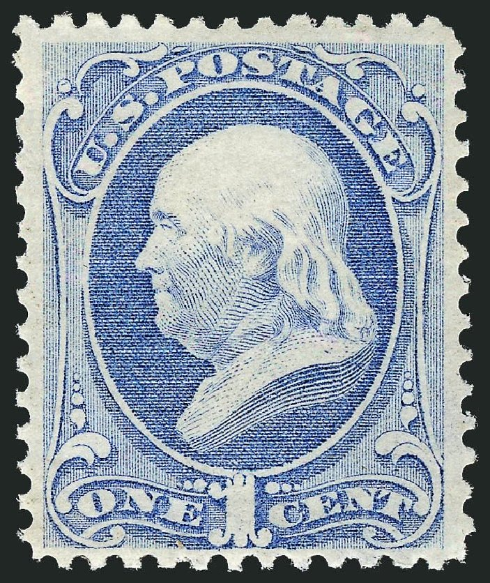Costs of US Stamp Scott #145 - 1870 1c Franklin Without Grill. Robert Siegel Auction Galleries, Dec 2014, Sale 1090, Lot 1311