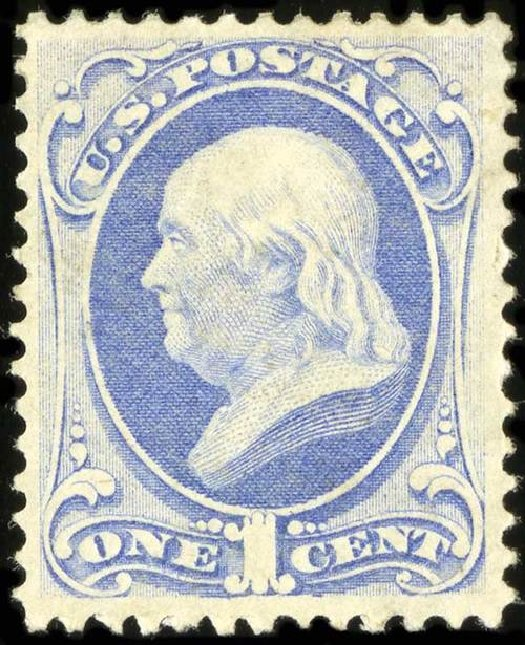 Cost of US Stamps Scott 145: 1870 1c Franklin Without Grill. Spink Shreves Galleries, Jul 2015, Sale 151, Lot 141