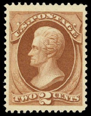 Values of US Stamps Scott Cat. #146 - 2c 1870 Jackson Without Grill. Daniel Kelleher Auctions, May 2014, Sale 653, Lot 2108