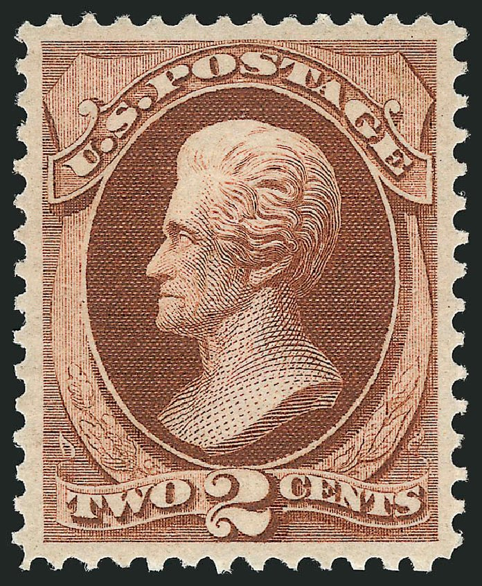 Values of US Stamp Scott Catalogue 146 - 2c 1870 Jackson Without Grill. Robert Siegel Auction Galleries, Feb 2015, Sale 1092, Lot 1119