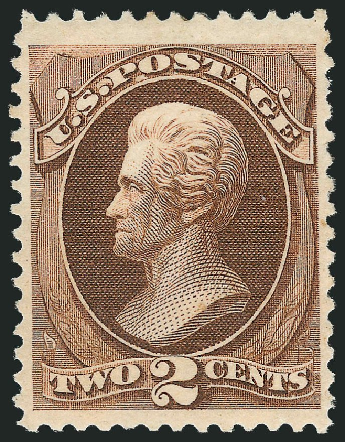 Us Stamp Values Scott 146 1870 2c Jackson Without Grill