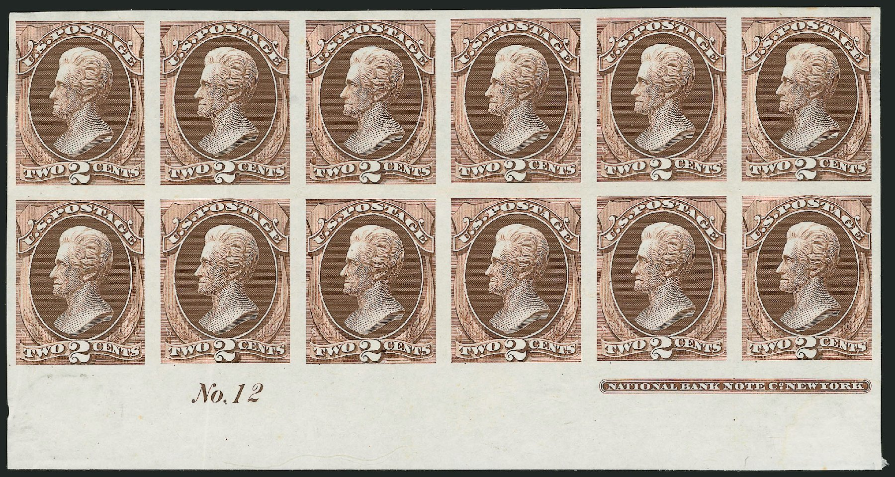 Cost of US Stamps Scott Catalog #146 - 2c 1870 Jackson Without Grill. Robert Siegel Auction Galleries, Jul 2014, Sale 1077, Lot 10