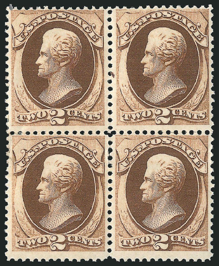 Price of US Stamps Scott Cat. # 146: 1870 2c Jackson Without Grill. Robert Siegel Auction Galleries, Apr 2015, Sale 1096, Lot 280