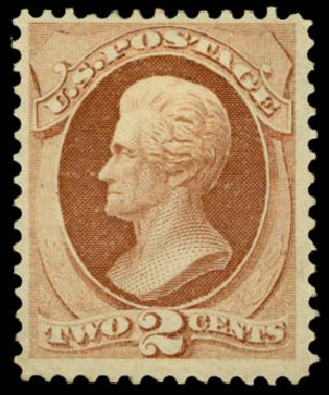 US Stamp Prices Scott Cat. # 146: 2c 1870 Jackson Without Grill. Daniel Kelleher Auctions, Mar 2014, Sale 648, Lot 2081