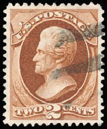 Prices of US Stamps Scott Cat. 146: 2c 1870 Jackson Without Grill. Schuyler J. Rumsey Philatelic Auctions, Apr 2015, Sale 60, Lot 2151
