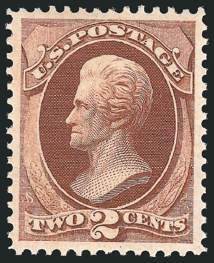 US Stamp Value Scott Cat. 146 - 1870 2c Jackson Without Grill. Robert Siegel Auction Galleries, Nov 2013, Sale 1057, Lot 722