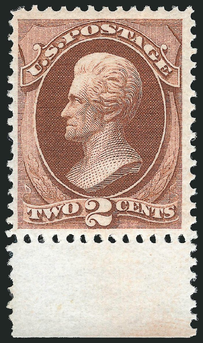 Prices of US Stamps Scott Catalog 146: 2c 1870 Jackson Without Grill. Robert Siegel Auction Galleries, Mar 2014, Sale 1067, Lot 1142