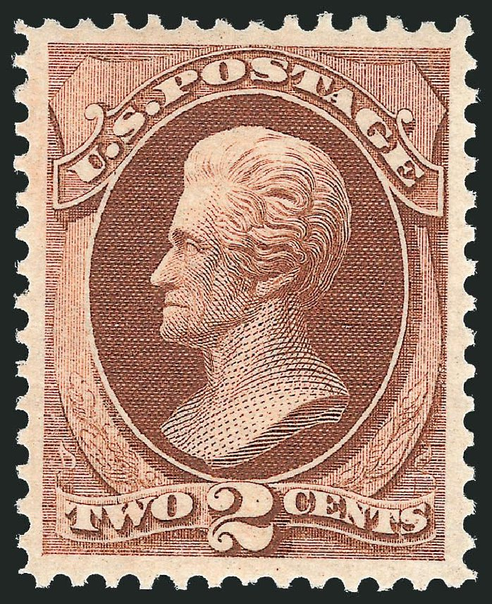 Prices of US Stamp Scott Catalogue #146 - 2c 1870 Jackson Without Grill. Robert Siegel Auction Galleries, Dec 2014, Sale 1090, Lot 1312