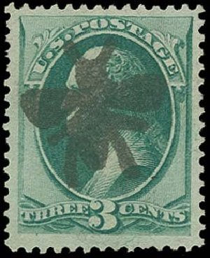 Costs of US Stamps Scott Catalog #147: 1870 3c Washington Without Grill. H.R. Harmer, Oct 2014, Sale 3006, Lot 1207