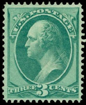 Price of US Stamp Scott Cat. # 147 - 3c 1870 Washington Without Grill. Daniel Kelleher Auctions, May 2014, Sale 652, Lot 279