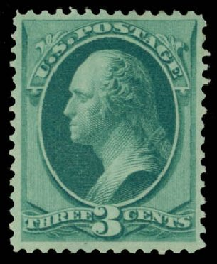 US Stamps Price Scott Catalogue # 147 - 3c 1870 Washington Without Grill. Daniel Kelleher Auctions, May 2015, Sale 669, Lot 2629