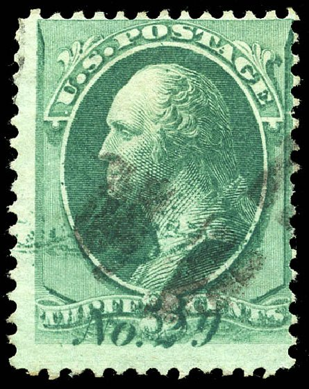Costs of US Stamps Scott Catalog # 147: 1870 3c Washington Without Grill. Matthew Bennett International, Feb 2015, Sale 351, Lot 120