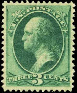 US Stamps Price Scott Catalog # 147: 3c 1870 Washington Without Grill. Harmer-Schau Auction Galleries, Feb 2012, Sale 92, Lot 960