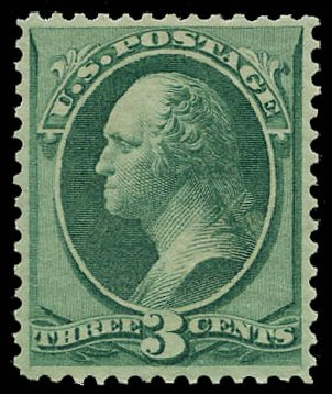 US Stamps Value Scott #147 - 1870 3c Washington Without Grill. Daniel Kelleher Auctions, May 2015, Sale 669, Lot 2630