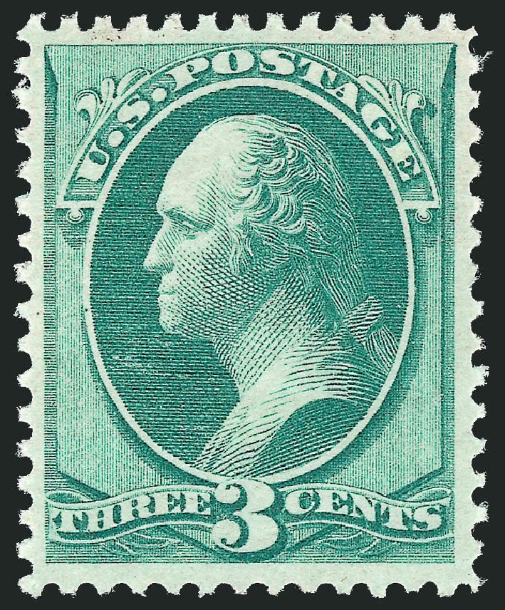 Values of US Stamps Scott Cat. 147: 3c 1870 Washington Without Grill. Robert Siegel Auction Galleries, Feb 2015, Sale 1092, Lot 1120