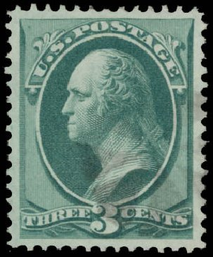 US Stamp Value Scott # 147 - 1870 3c Washington Without Grill. Daniel Kelleher Auctions, May 2015, Sale 669, Lot 2631