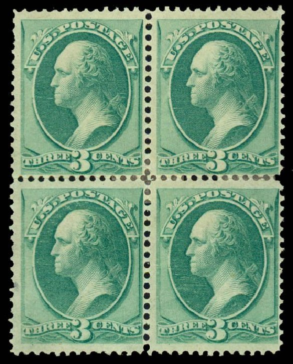 US Stamps Values Scott Catalogue #147: 1870 3c Washington Without Grill. Daniel Kelleher Auctions, Dec 2013, Sale 640, Lot 154