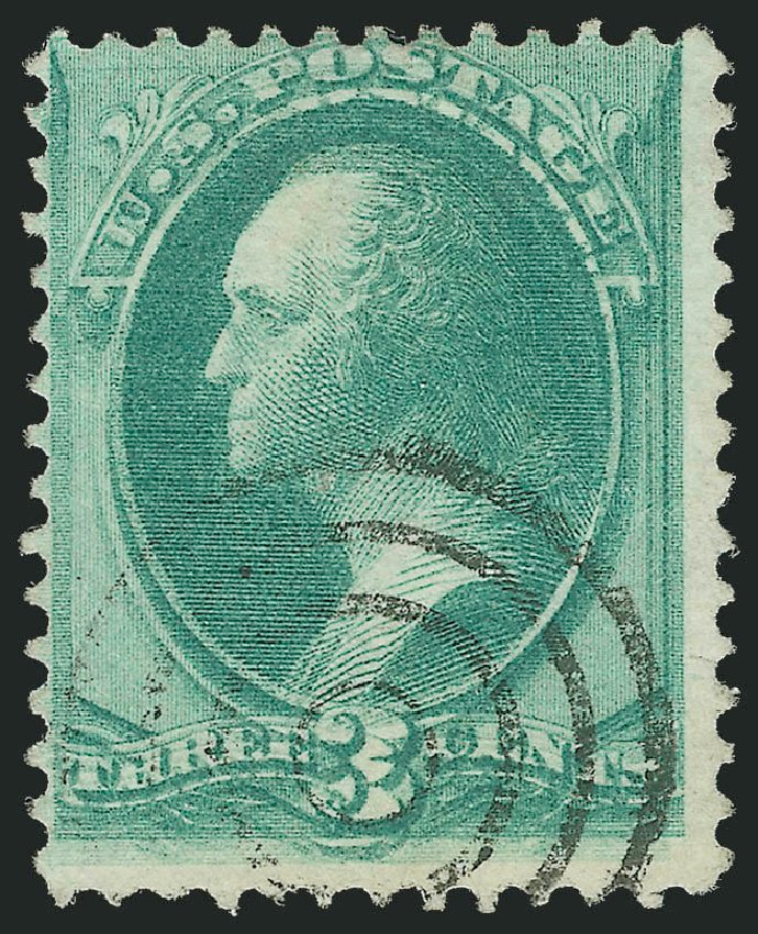 Values of US Stamp Scott 147 - 1870 3c Washington Without Grill. Robert Siegel Auction Galleries, Sep 2012, Sale 1027, Lot 54