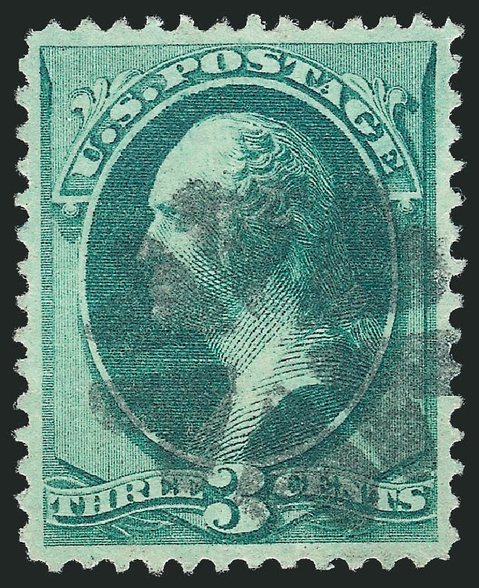 Values of US Stamps Scott Cat. # 147: 3c 1870 Washington Without Grill. Robert Siegel Auction Galleries, Oct 2012, Sale 1032, Lot 3234