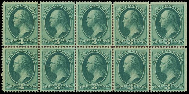 Costs of US Stamps Scott Catalogue #147 - 1870 3c Washington Without Grill. Daniel Kelleher Auctions, Oct 2012, Sale 632, Lot 1062