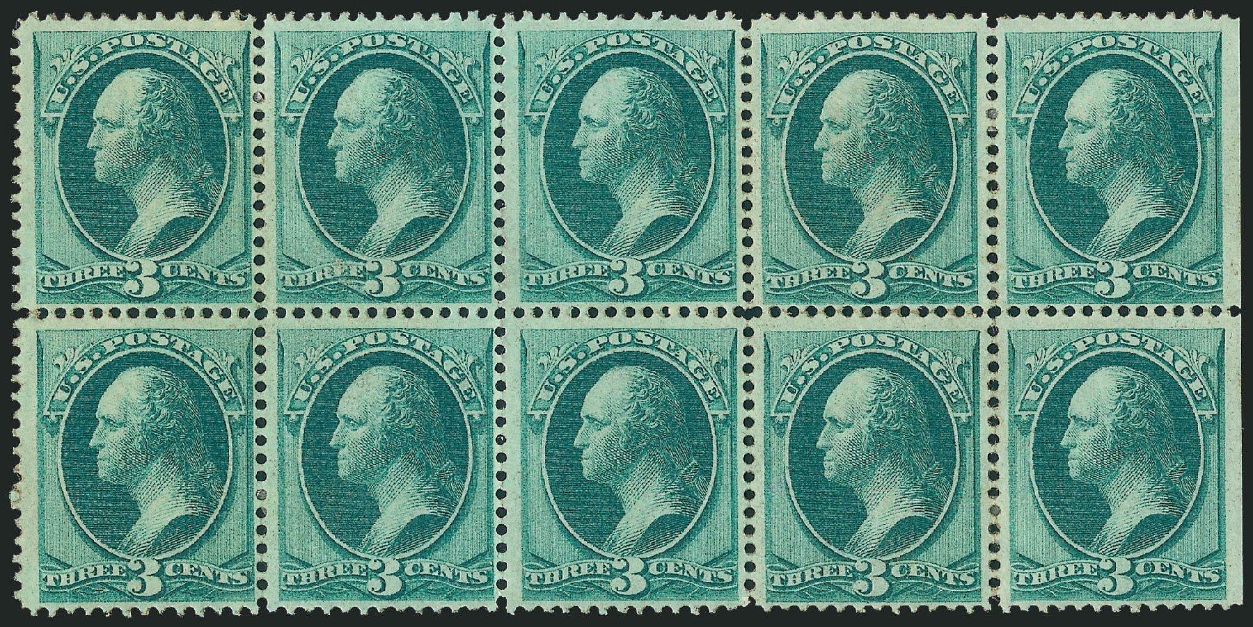 US Stamps Price Scott Cat. 147: 1870 3c Washington Without Grill. Robert Siegel Auction Galleries, Mar 2012, Sale 1021, Lot 352