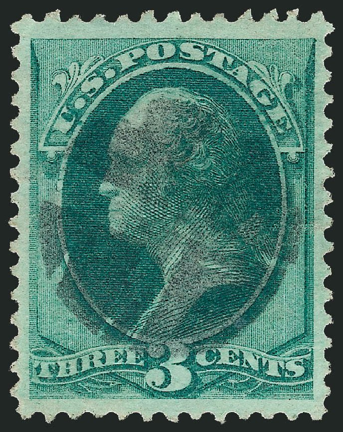 Values of US Stamps Scott Catalog # 147: 3c 1870 Washington Without Grill. Robert Siegel Auction Galleries, Sep 2012, Sale 1027, Lot 52