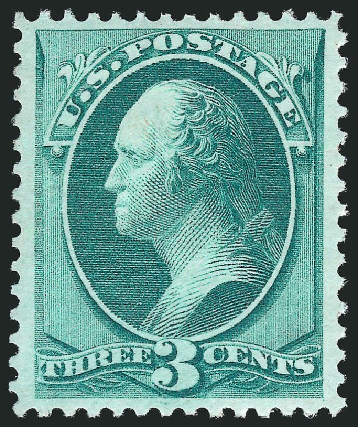 Values of US Stamps Scott #147 - 3c 1870 Washington Without Grill. Robert Siegel Auction Galleries, May 2013, Sale 1044, Lot 133