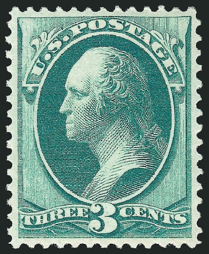 Costs of US Stamps Scott Catalogue 147: 3c 1870 Washington Without Grill. Robert Siegel Auction Galleries, Mar 2014, Sale 1067, Lot 1143