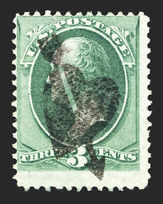 US Stamps Prices Scott Cat. 147 - 1870 3c Washington Without Grill. Spink Shreves Galleries, Mar 2013, Sale 142, Lot 216