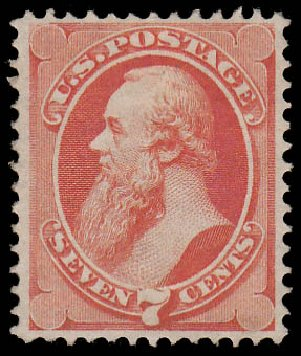 Value of US Stamps Scott Catalog # 149: 7c 1871 Stanton Without Grill. Daniel Kelleher Auctions, Jan 2015, Sale 663, Lot 1387