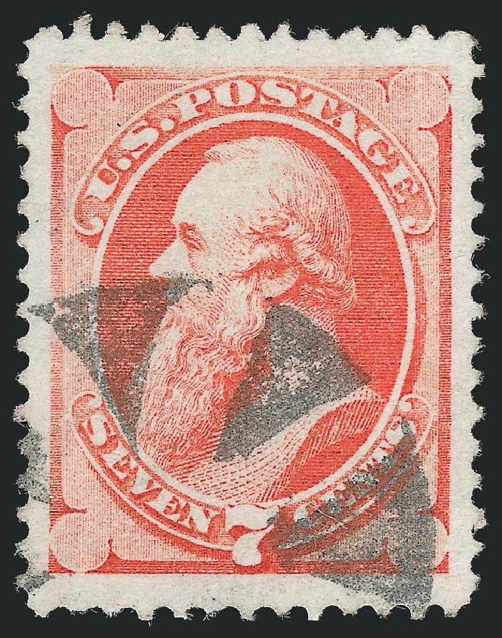 Cost of US Stamp Scott Cat. 149 - 1871 7c Stanton Without Grill. Robert Siegel Auction Galleries, Nov 2014, Sale 1084, Lot 3397