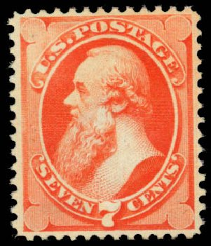 Values of US Stamp Scott Catalogue #149 - 1871 7c Stanton Without Grill. Daniel Kelleher Auctions, Jan 2015, Sale 663, Lot 1388
