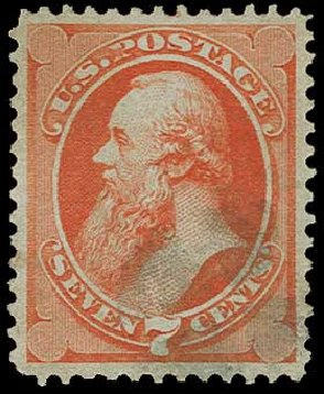 US Stamps Price Scott Cat. # 149 - 1871 7c Stanton Without Grill. H.R. Harmer, Jun 2015, Sale 3007, Lot 3209