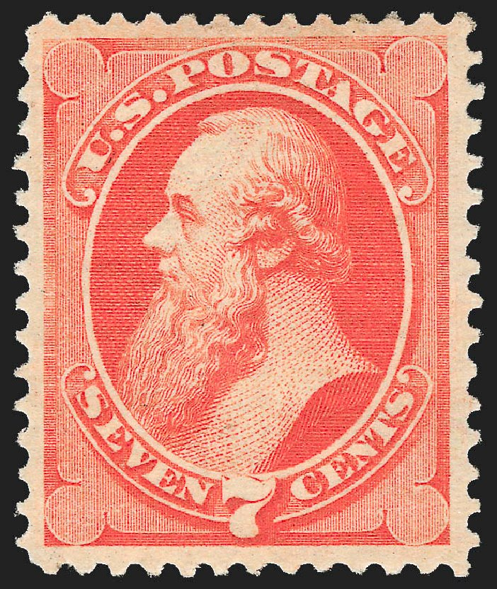 Price of US Stamp Scott Catalogue 149: 1871 7c Stanton Without Grill. Robert Siegel Auction Galleries, Jul 2015, Sale 1107, Lot 270