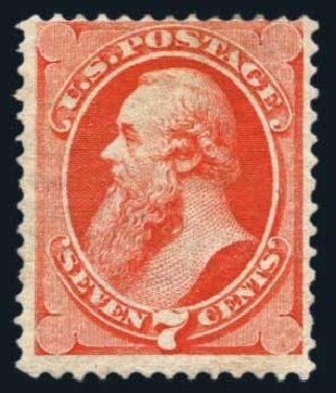 US Stamp Values Scott Catalogue #149 - 7c 1871 Stanton Without Grill. Harmer-Schau Auction Galleries, Aug 2014, Sale 102, Lot 1791