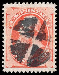 Price of US Stamps Scott Catalogue #149: 1871 7c Stanton Without Grill. Schuyler J. Rumsey Philatelic Auctions, Apr 2015, Sale 60, Lot 2154
