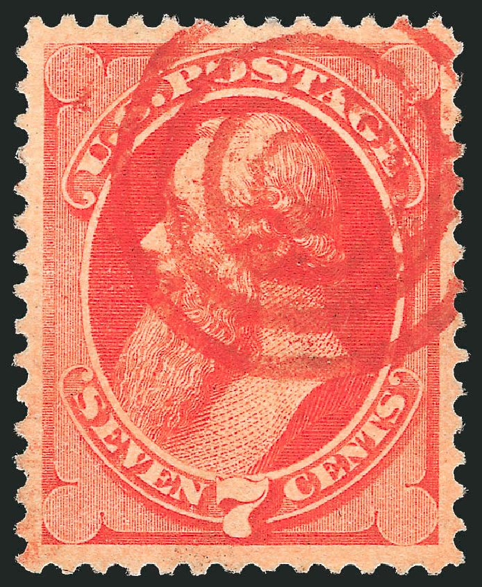 US Stamps Prices Scott 149: 7c 1871 Stanton Without Grill. Robert Siegel Auction Galleries, Feb 2015, Sale 1092, Lot 1122